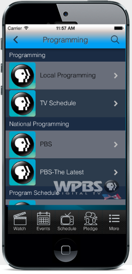 Wpbs TV app for iphone