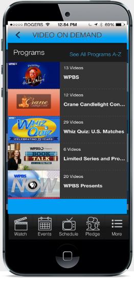 WPBS iphone app
